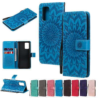 AU8.99 • Buy For OPPO F11 Pro A52 A72 Sun Flower Pattern PU Leather Flip Wallet Case Cover