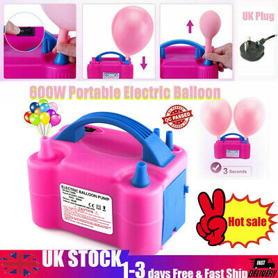 £14.79 • Buy Portable 600W Electric Balloon Camping Pump Inflator Air High Power Blower Party