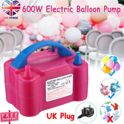 £14.68 • Buy 600W Electric Air Balloon Pump Dual Nozzle Automatic Portable Inflator Party Uk