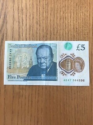 £25 • Buy £5 Note Collectable Serial Number AK47