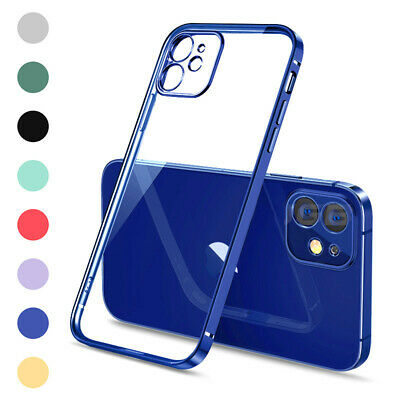 AU3.67 • Buy SHOCKPROOF Plating Clear Case For IPhone 13 12 11 Pro MAX Mini XR X XS 67 8 Plus