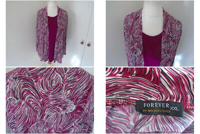 £12.95 • Buy Forever By Michael Gold Ladies Purple Lagenlook Top Size XXL Casual Travel Boho