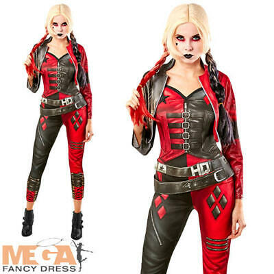 £39.99 • Buy Ladies Suicide Squad Two Harley Quinn Jumpsuit Halloween Fancy Dress Costume New