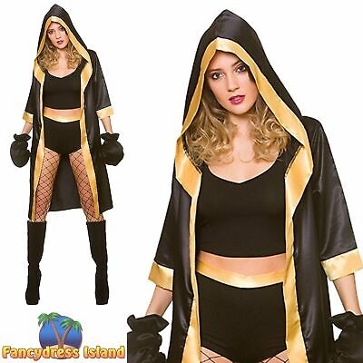£15.99 • Buy Wicked Knockout Boxer Womens Ladies Fancy Dress Costume
