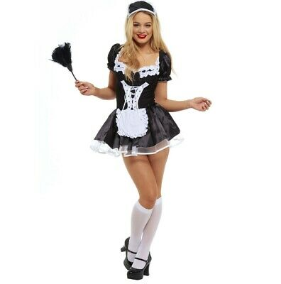 £10 • Buy Women French Maid Fancy Dress Costume Outfit Hen Party Naught Feather Duster LOT
