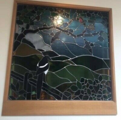 £300 • Buy Bespoke Stained Glass Window Panel, 105cm X 111cm With Lead Surround