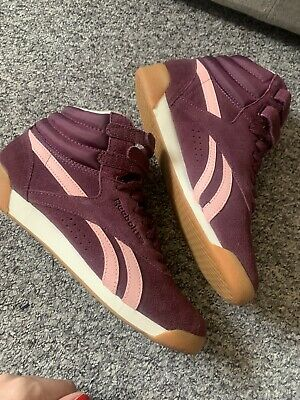 £30 • Buy Womens Reebok High Freestyle Suede Trainers Size 5