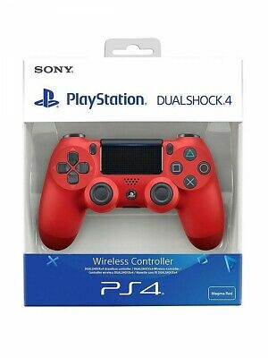 £30.99 • Buy Sony PS4 Black Dualshock 4 V2 Controller Red Colour Brand New In Box