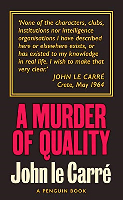 £4.13 • Buy A Murder Of Quality: The Smiley Collection, Carré, John Le, Good Condition Book,