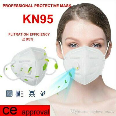 £2.99 • Buy Respirator Face Mask Valve Safety Grey Dust Mouth Cover Filtration Breathing