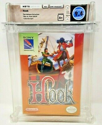 £2193.70 • Buy Hook And Peter Pan Nintendo NES New Sealed 9.4 WATA Indiana Collection
