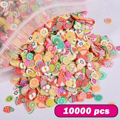 AU14.87 • Buy 10000x Mixed Fruit Charms Set Polymer Clay Flatback Slime Beads Nail Art Slices