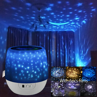 AU24.60 • Buy LED Night Star Sky Projector Light Lamp Rotating Starry Baby Room Kids Gift