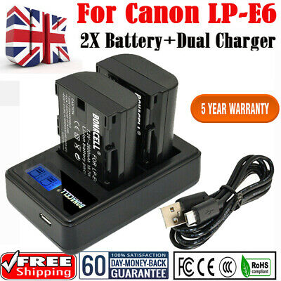 £23.99 • Buy LP-E6 LP-E6N Battery+Charger For Canon EOS 5D 6D 7D Mark II III 60D 70D Camera O