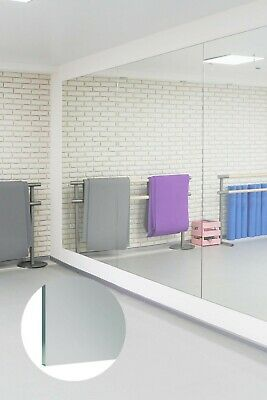 £139.99 • Buy Large Gym Mirror Glass Sheets 4mm Thick 5ft-8ft X 3ft-4ft Wall Mounted