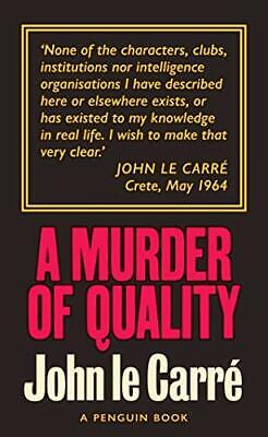 £7.22 • Buy A Murder Of Quality: The Smiley Collection By Carré, John Le, NEW Book, FREE & F
