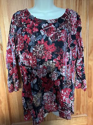 £2.99 • Buy Ladies Forever By Micheal Gold Floral Top Size XL Fully Lined