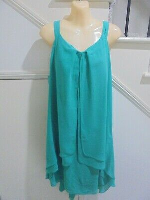 AU19.99 • Buy SUZANNE GRAE SIZE 16 Gorgeous Green Layered SPECIAL OCCASION EVENING DRESS