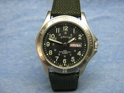 AU28.15 • Buy Men's ORVIS Water Resistant Military Watch W/ New Battery