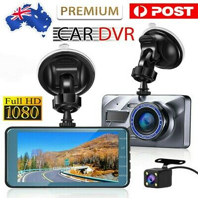 AU53.45 • Buy 4  In Car Camera Recorder Dual Front And Rear HD 1080P Dash Cam Night Vision