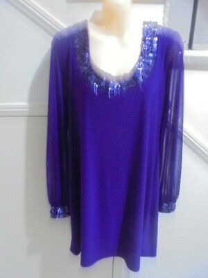 AU19.99 • Buy WALLIS NWOT PURPLE SIZE 14 Beading Lined EVENING SPECIAL OCCASION DRESS