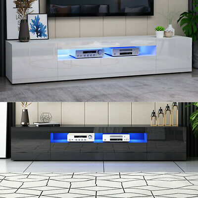 £139.90 • Buy Modern 200 Cm TV Unit Stand Cabinet With LED Lights High Gloss Doors White&Black