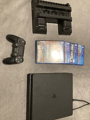 AU100 • Buy Sony PS4 Slim 500GB Black + 4 Games + Multipurpose Stand + Faulty Controller