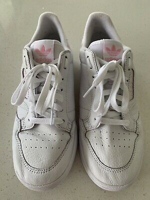 AU20 • Buy Adidas Continental 80 Womens Shoes- White Grain Leather & Baby Pink - Size 9