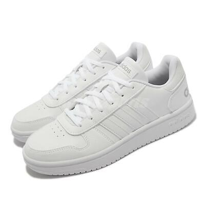 AU137.32 • Buy Adidas Hoops 2.0 White Grey Women Classic Casual Lifestyle Shoes Sneakers FY6024