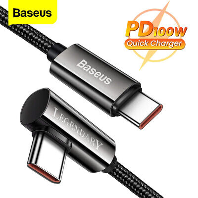 AU9.99 • Buy Baseus PD100W Type C To USB C Cable Fast Charging Charger For Samsung S21 Huawei