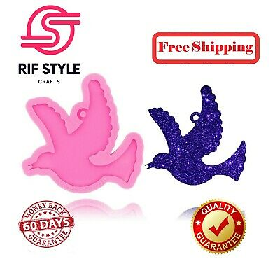 £6.53 • Buy DIY Bird Mold Necklace Epoxy Dove Pigeon Crafts Keychain Resin Silicone Mould