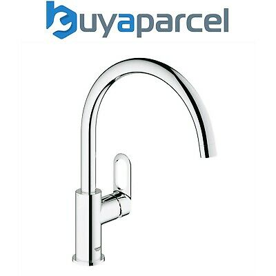 £82.99 • Buy Grohe 31368 BauLoop Chrome Single Lever Kitchen Sink Mixer Tap Swivel High Spout