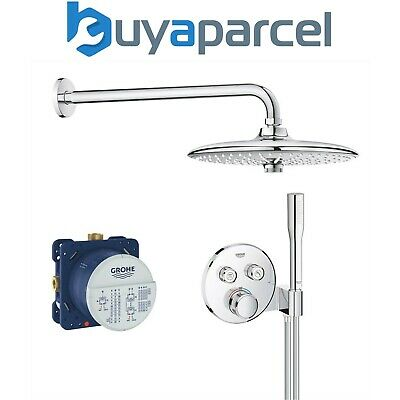 £725.99 • Buy Grohe Grotherm SmartControl Perfect Shower Round Set With Euphoria 260 Head