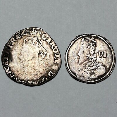 £5.50 • Buy 1625-1649 King Charles I Great Britain Silver Sixpence Six Pence 6d Coins