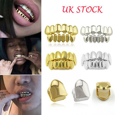£4.99 • Buy Gold Silver Grill Tooth Clip Plated Mouth Teeth Cap Cool Bling Hip Hop Cosplay