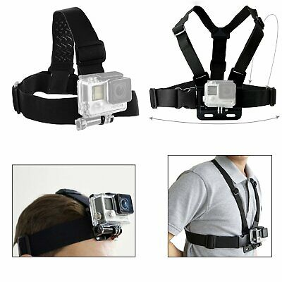 AU15.99 • Buy Harness Head+Chest Strap Belt Mount Accessories For GoPro Hero 5 4 3+ 3 2 Camera