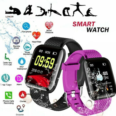 AU17.27 • Buy Men Women Smart Watch Heart Rate Monitor Fitness Tracker For Android IPhone Gift