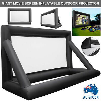 AU178.59 • Buy 5M*3M Inflatable Giant Movie Screen 16:9 Outdoor Projector Cinema Theatre AU