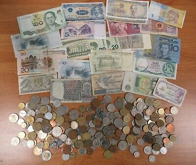 £70.26 • Buy Job Lot Of Foreign And Domestic Coins And Notes 1kg [1303]