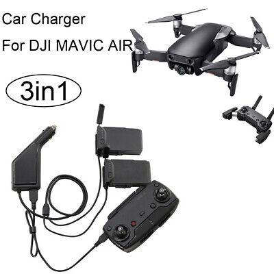 AU40.52 • Buy 3in1 Car Charger Adapter For DJI Mavic Air Remote Control & Battery Charging Hub