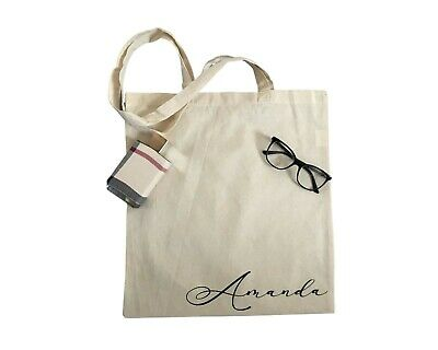 £3.50 • Buy Personalised Name Tote Bag Hen Party Bridesmaid Gift Birthday Cotton Tote Bag