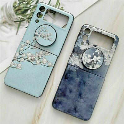 AU17.99 • Buy  Case For Samsung Galaxy Z Flip 3 5G Bling Flowers Stand Shockproof Slim Cover