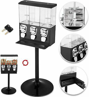 £174.99 • Buy TRIPLE CHOICE Commercial Grade Sweet Vending Machine 20p Coin Operated - BLACK