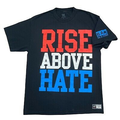 £18.12 • Buy WWE Authentic JOHN CENA Rise Above Hate Hustle Loyalty Respect T-shirt Size L