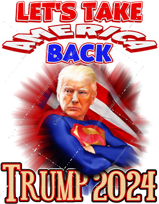 AU26.92 • Buy Superman Donald Trump 'Let's Take America Back' In 2024 T-Shirts Unisex Sm-2XL