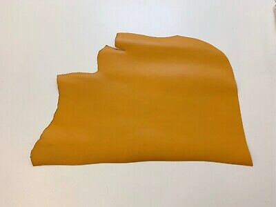 £61.99 • Buy 2mm Thick Dyed Veg Tan Leather Cowhide Craft - Tuscany Yellow - 4.8sqft+