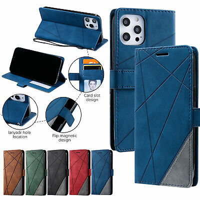AU14.27 • Buy For IPhone 13 12 Pro Max Hybrid Leather Card Slot Bumper Flip Wallet Case Cover