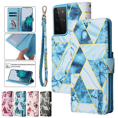 AU5.72 • Buy Marble Pattern Flip Leather Wallet Case For IPhone 12 11 13 Pro Max XS XR 8 7 6S