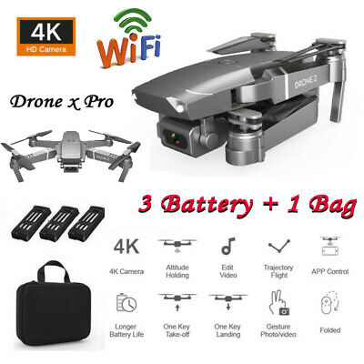 AU18.35 • Buy Drone X Pro 4K With Camera Foldable Quadcopter WiFi FPV 3 Battery + 1 Bag RTF US