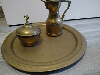 £4.75 • Buy Vintage Indian Brass Plate Kettle And Pot